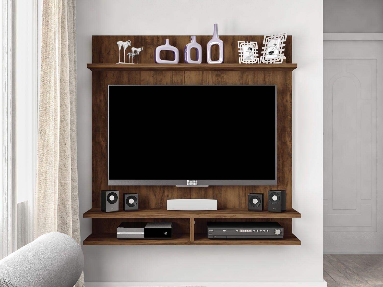 Painel Para Tv At 42 Fix 1 Prateleira Caemmun Pain Is Para  # Muebles Caemmun
