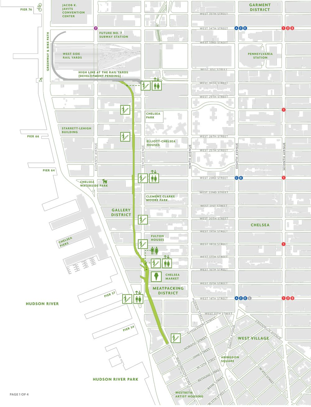 Highline Map NYC wwwthehighlineorg  New York bucket list