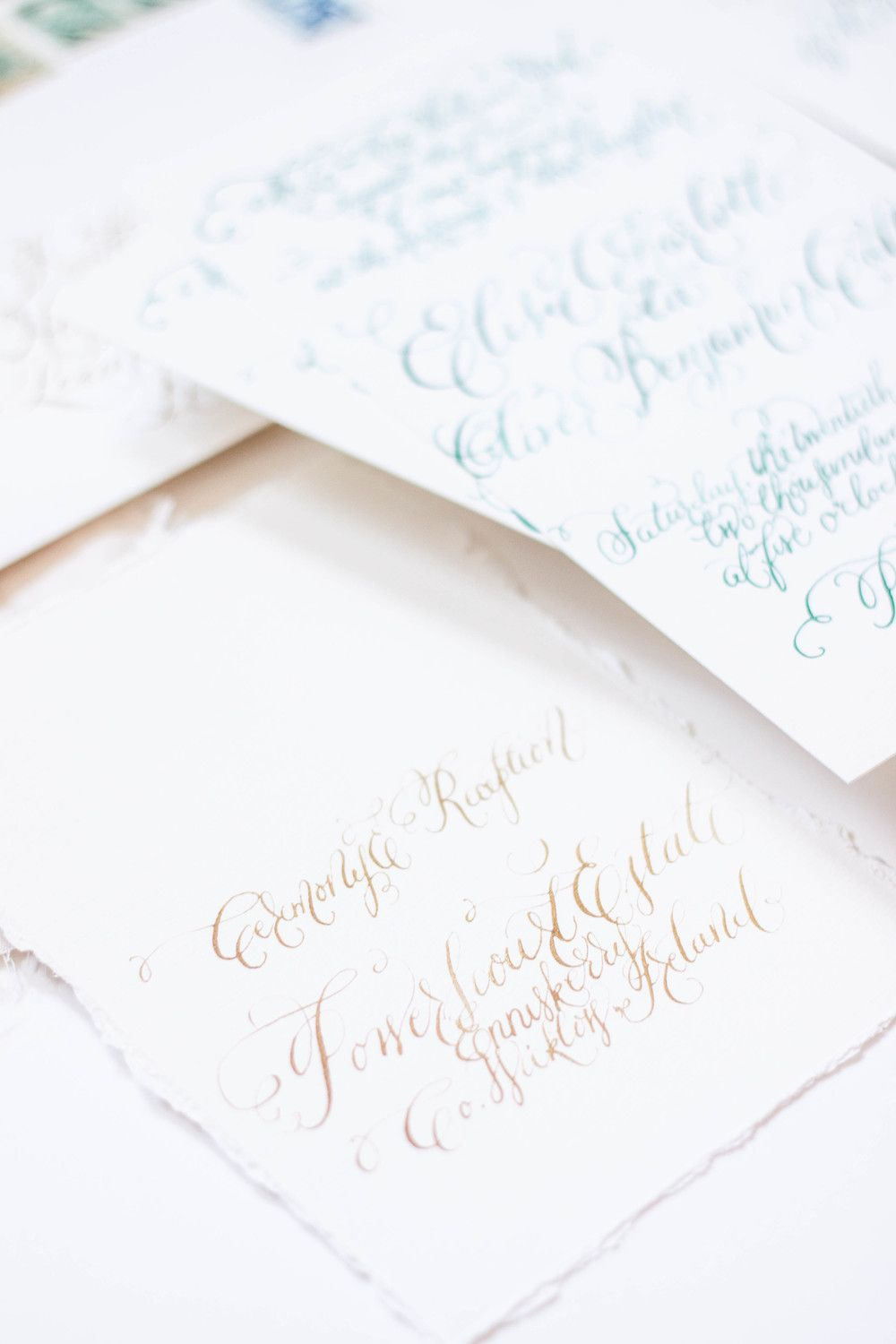 Merveilleux Design House Of Moira | Calligraphy Wedding Invitations | Ireland