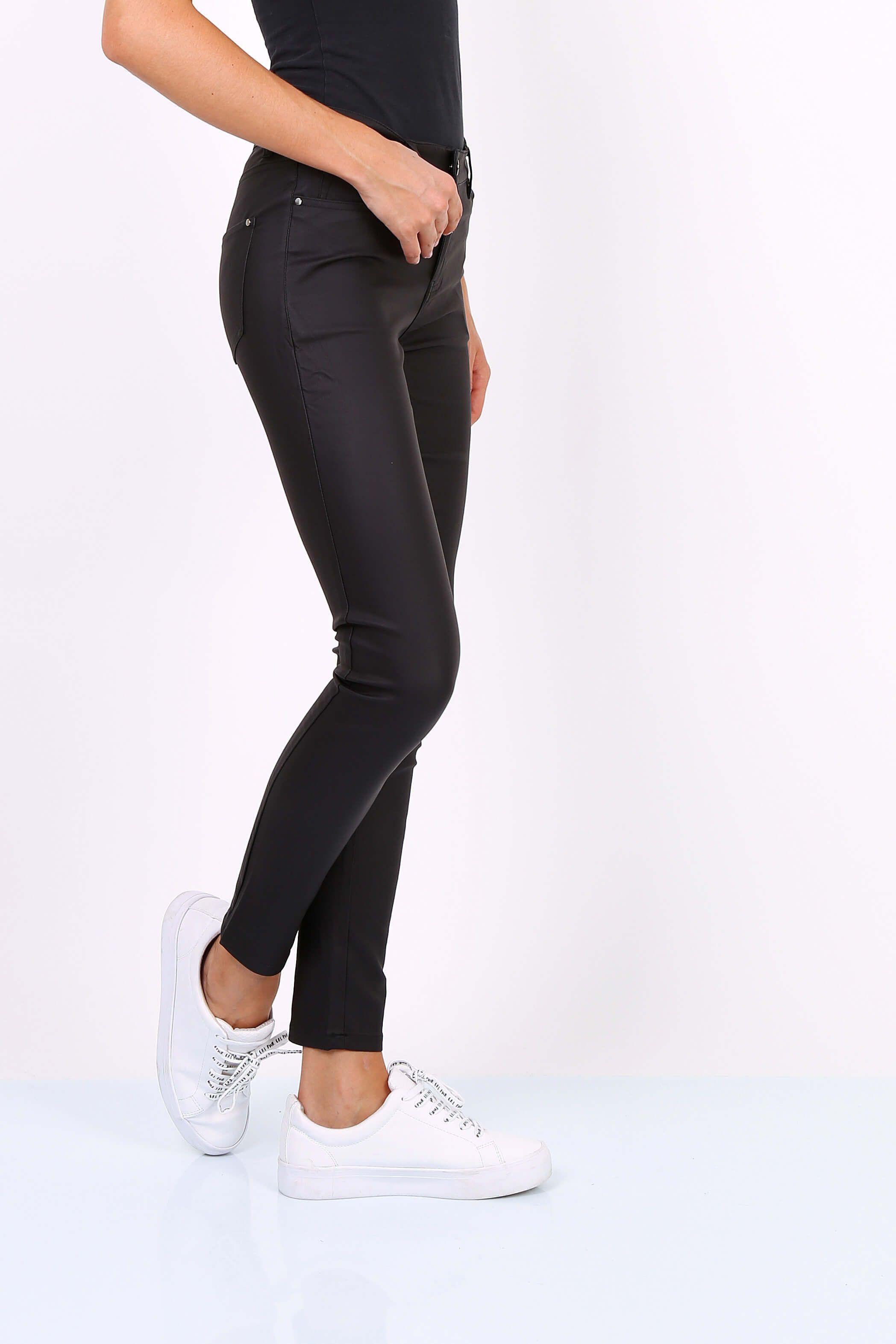 d0134462db98 Dámske čierne elastické nohavice