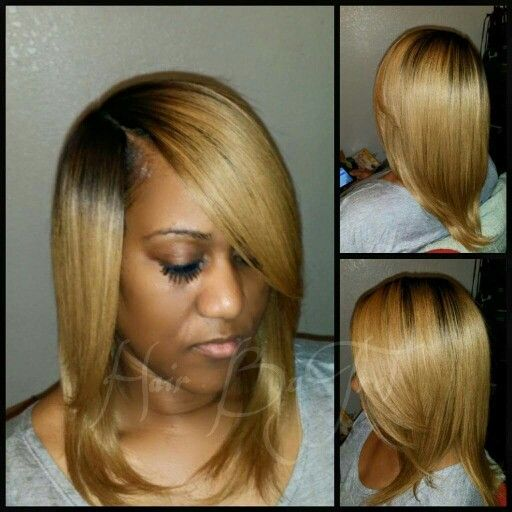 No Leave Out Quick Weave Blonde Invisible Part Long Weave Hairstyles Quick Weave Hairstyles Relaxed Hair