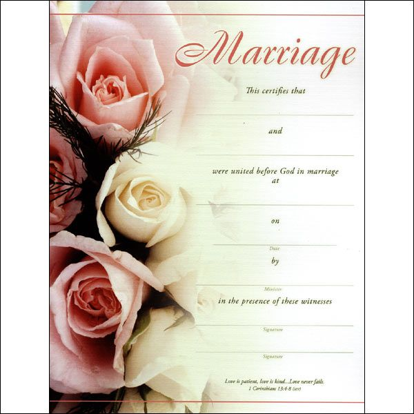 If You Are Looking For A Replica Marriage Certificate From A