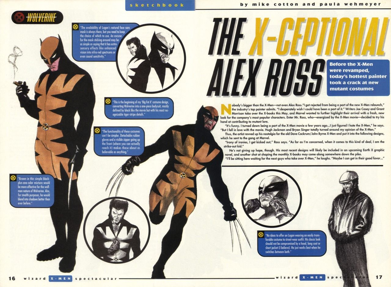 Wolverine By Alex Ross Before Grant Morrison Took Over The X Men Marvel Asked Different Creators For A Proposal This Was Alex Ross S P Alex Ross X Men Ross