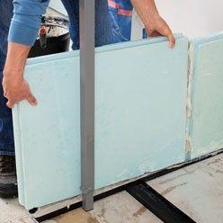 monter une cloison en carreaux de pl tre construire. Black Bedroom Furniture Sets. Home Design Ideas