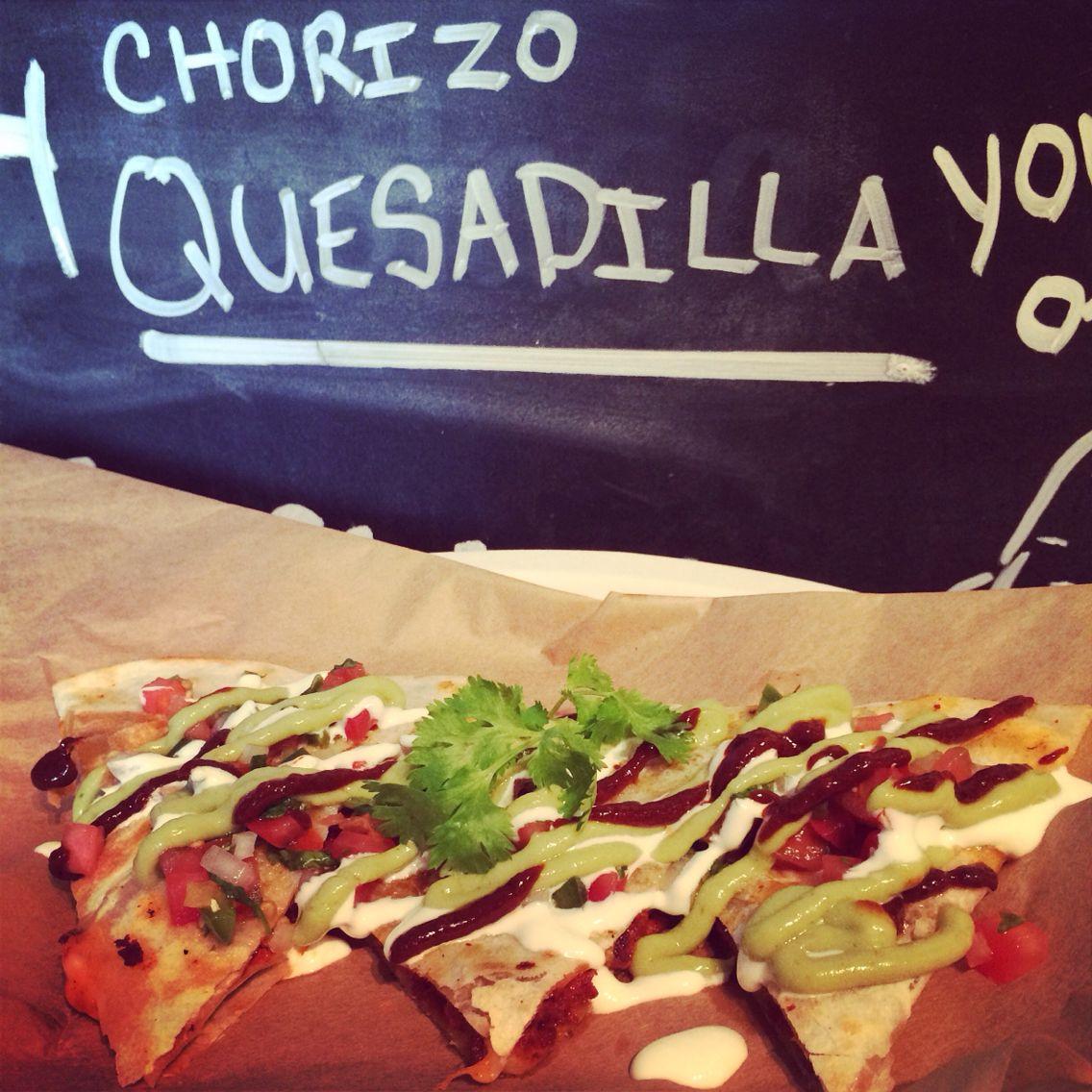 Chorizo Quesadilla by @PolosCarreta