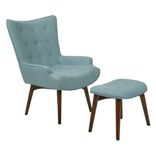 Best Dalton Light Blue Chair With Ottoman Chair Ottoman Set Living Room Chairs Furniture 400 x 300