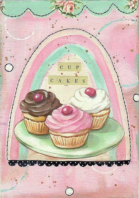 Cup Cakes collage print | Laminas, Articulos de reposteria y Cupcakes