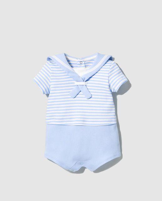 732451dfa Ranita de bebé niño Dulces de rayas en azul | Ropita de Tela de ...