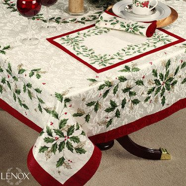 Lenox R Holiday Table Linens Are Cotton Polyester Ivory Jacquard