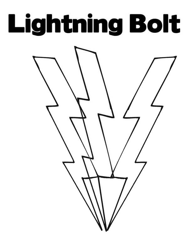 Lighting Bolt Coloring Page For Kids Color Luna