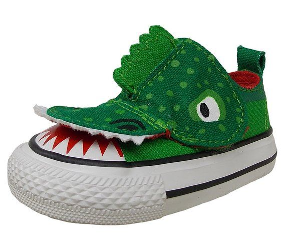 f9bb4d3d14c8 CONVERSE Kids  All Star Creatures No Problem Sneaker Infant Toddler  (Green Alligator 4.0 M)