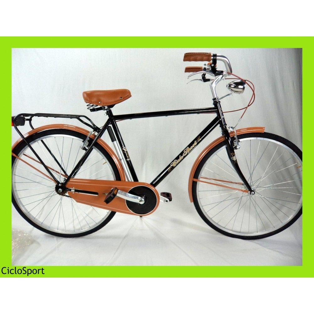 Bicicletta Uomo Olanda Elegance 28 Ciclosport Lusso Nera Bici