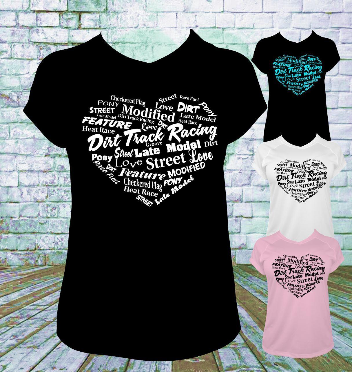 dirt track racing subway heart t shirt - Racing T Shirt Design Ideas