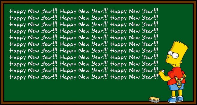 Image result for happy new year The Simpsons