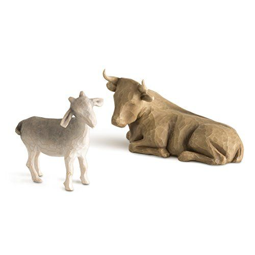 Willow Tree Ox and Goat, 2-piece set of animal figures by https
