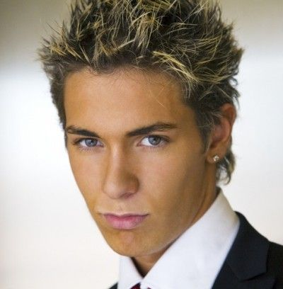 Spiky Hairstyle With Highlights For Men Mens Hairstyles Short