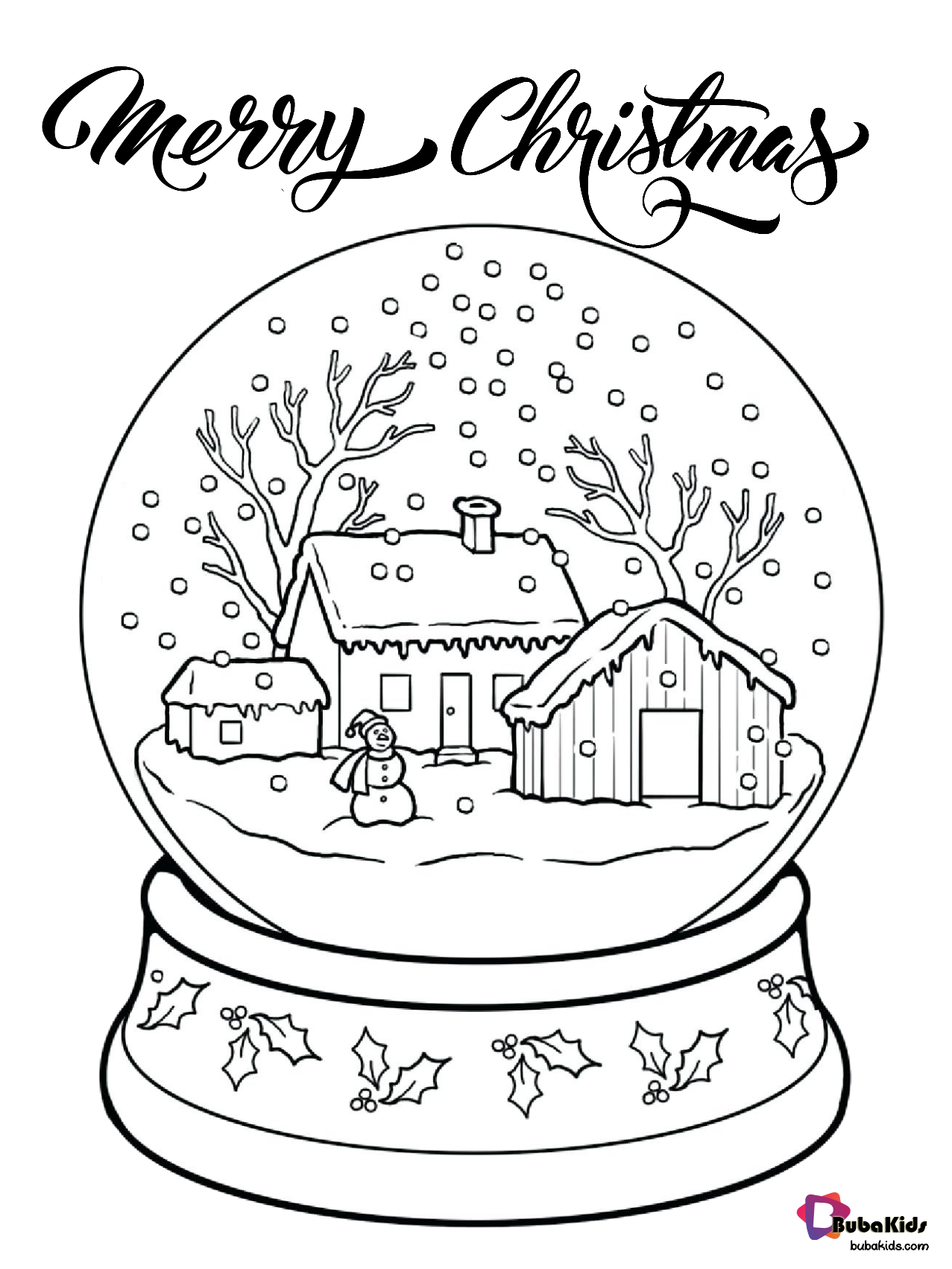 Free Download Merry Christmas Snow Globe Printable Coloring Pages Collection Of Cartoon Colo In 2020 Christmas Coloring Pages Printable Coloring Pages Coloring Pages