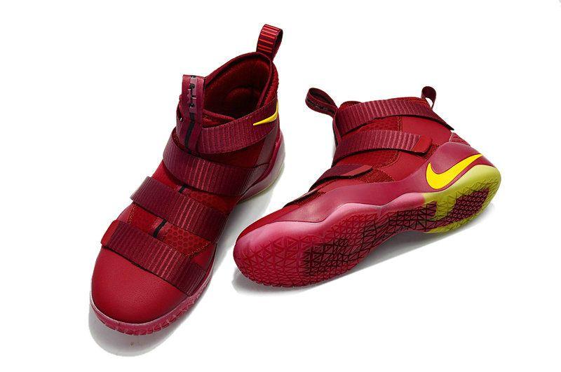 d3acf7a77ba 2018 Fashion Nike Zoom Lebron Soldier 11 XI Cavs Dark Burgundy Big Boys  Basketbll Shoes 2018