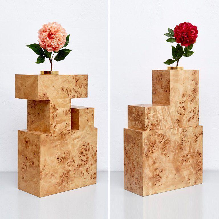 Complete Ettore Sottsass Twentyseven Woods Vases For Chinese Artificial Flowers For Sale At 1stdibs Wood Vase Flower Vase Design Ceramic Vases Design
