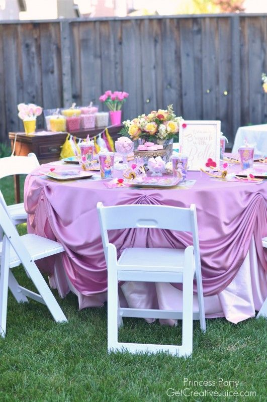 AMAZING Disney Princess Party With Belle Ideas Food Decorations Mesmerizing Belle Party Decorations