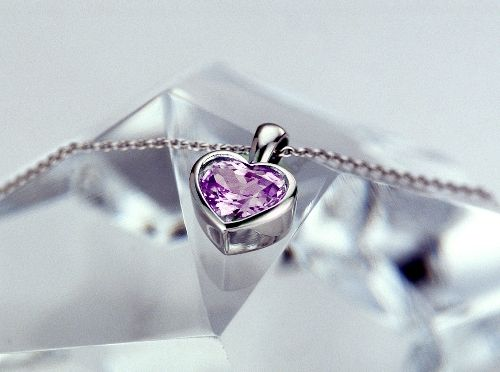 Valentine's Day... genuine lavender sapphire pendant.  This color is  rare for sapphires.