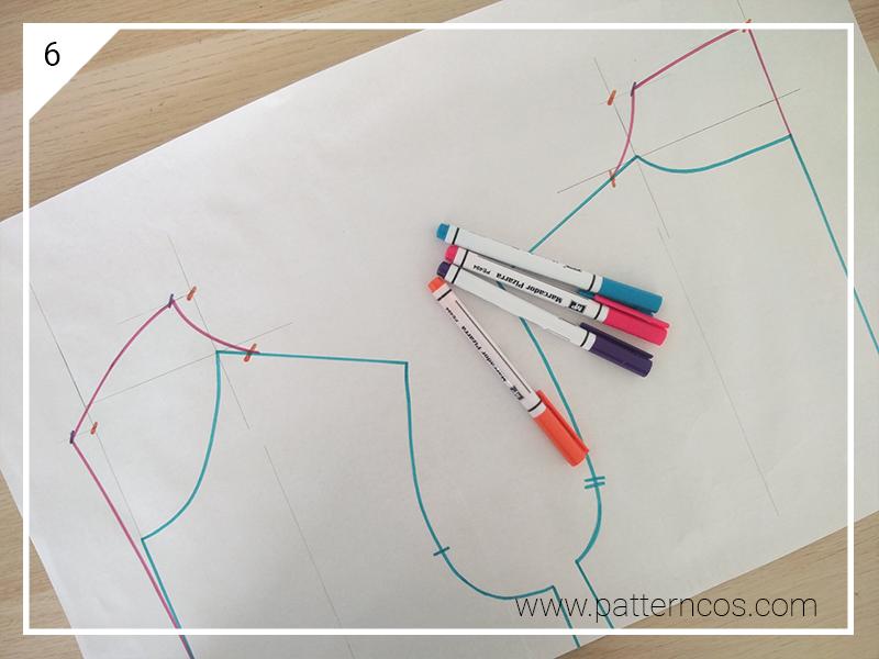 Cómo hacer el patrón de un cuello alto sin costura en la base del ...