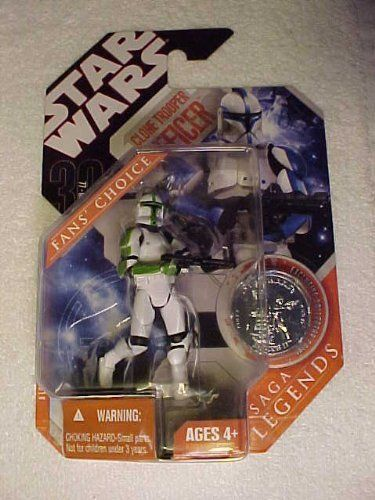 STAR WARS 30TH ANNIVERSARY SHOCK TROOPER WITH COIN SAGA LEGENDS