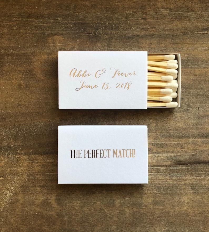 The Perfect Match Personalized Matches Set Of 100 Wedding Etsy Matchbox Wedding Favors Wedding Matches Favors Wedding Matches
