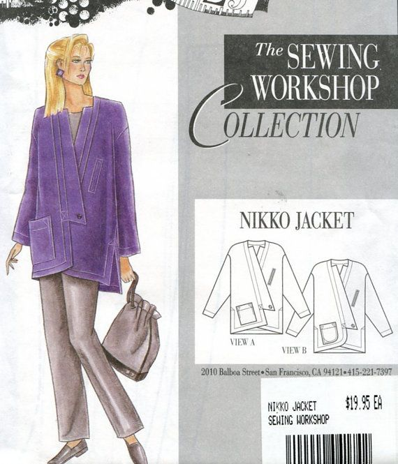 Nikko Jacket Pattern The Sewing Workshop Collection Size 8 18