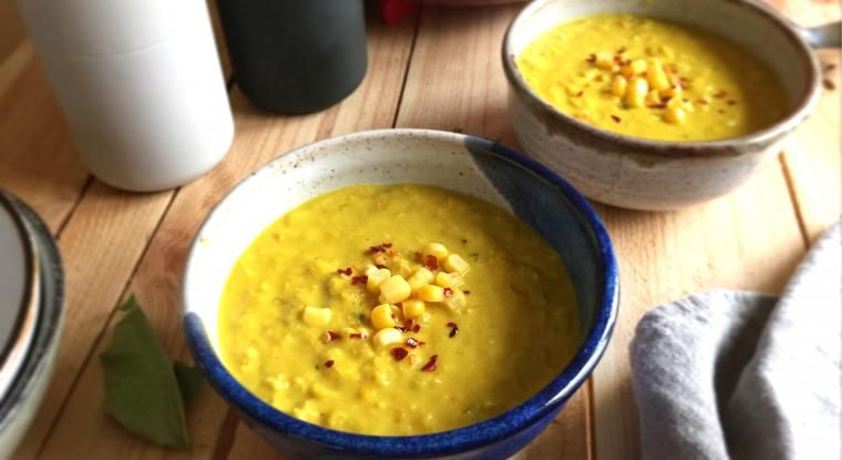 A hearty, spicy & warming creamy soup stew that is perfect for enjoying in colder months with the added benefits, spice & power of turmeric & chilli flakes. It's a perfect pick-me-up if you're down with the cold or flu with an array of veggie delights!