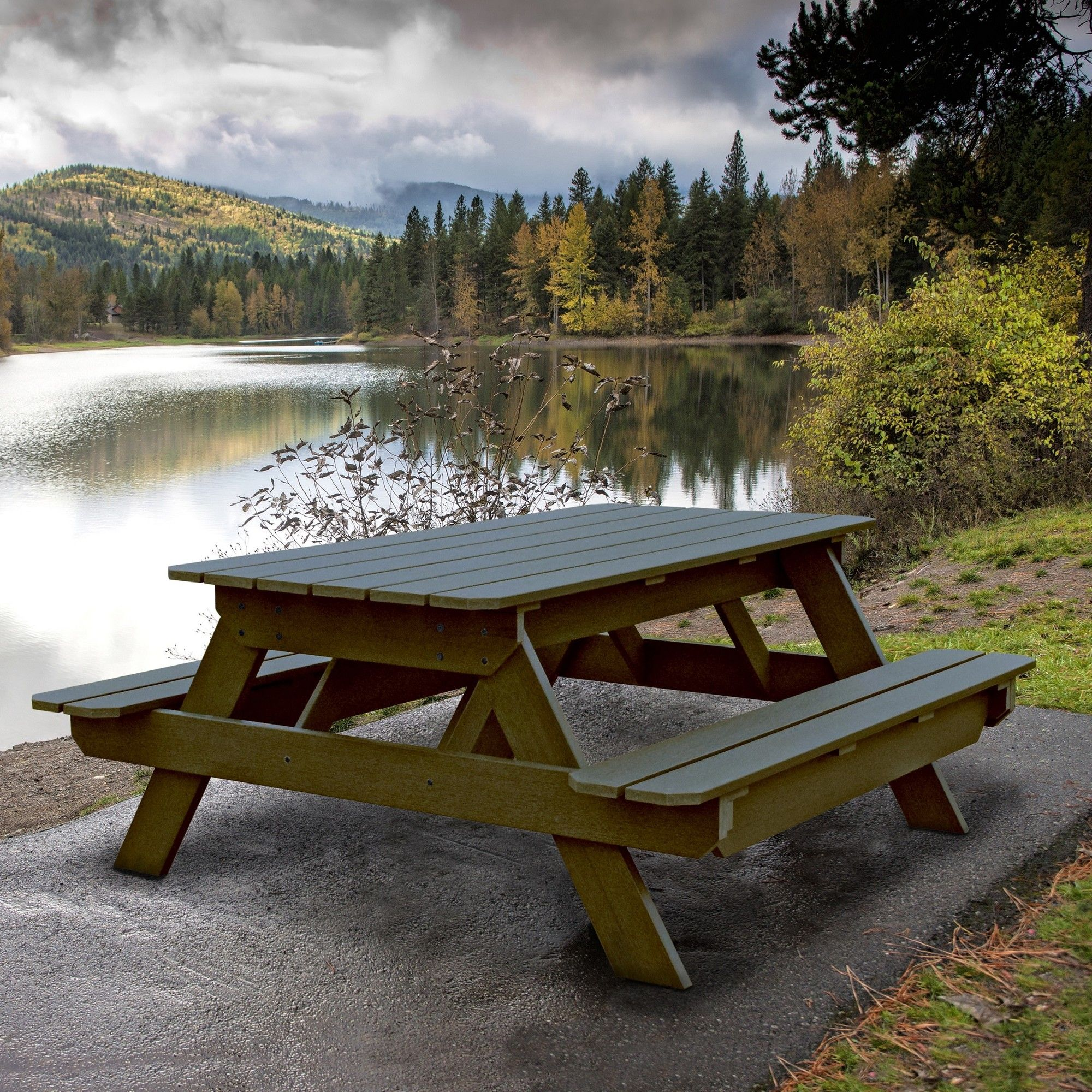 Cimarron End Table Picnic Table Outdoor Lawn Garden