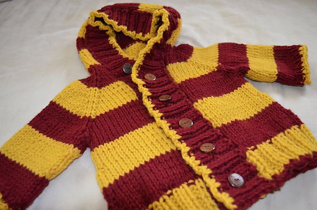 Harry Potter Gryffindor Baby Jacketsweater Pattern By Rachel