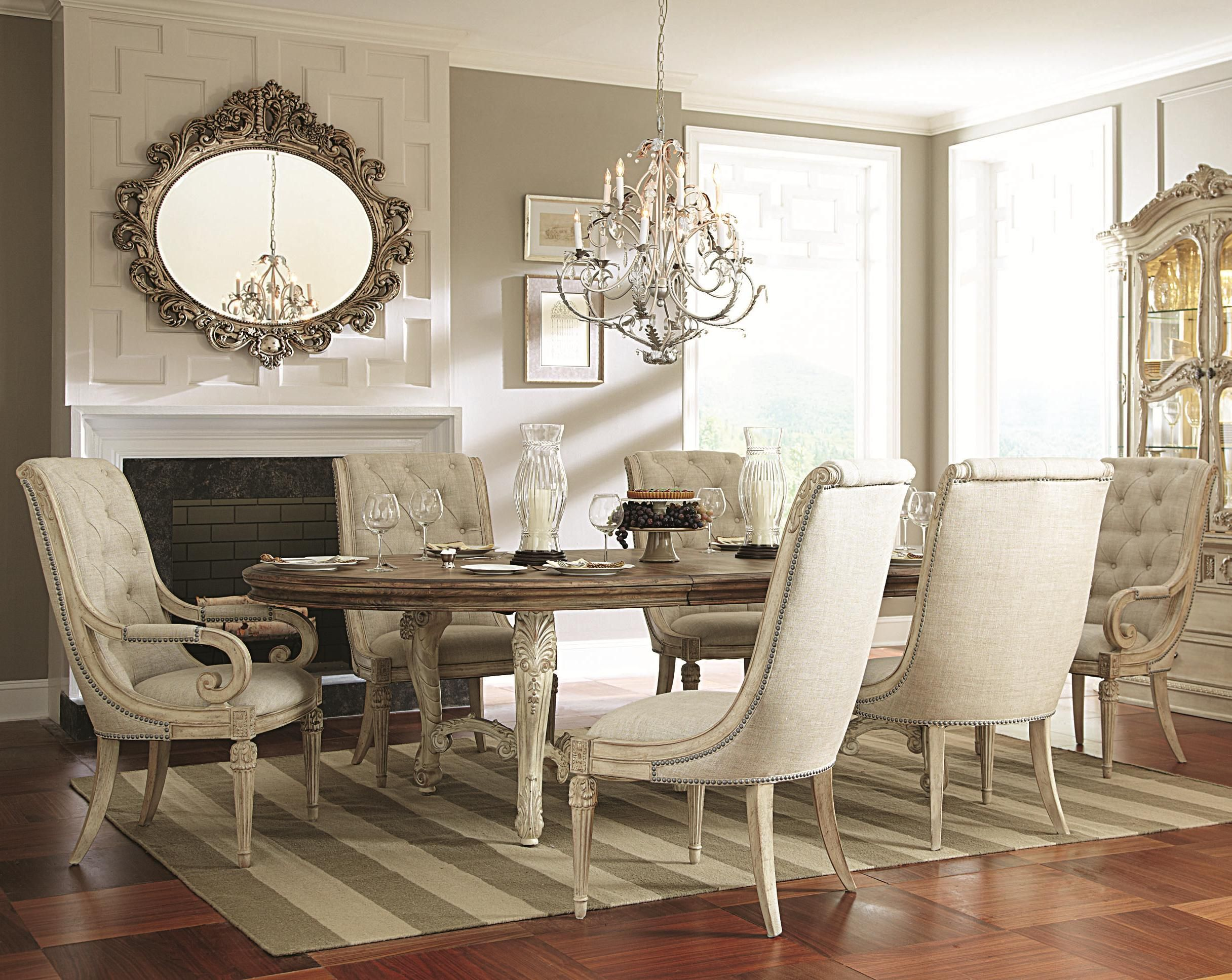 Jessica Mcclintock Home  The Boutique Collection 7 Piece Dining Awesome Oval Dining Room Table And Chairs Design Ideas