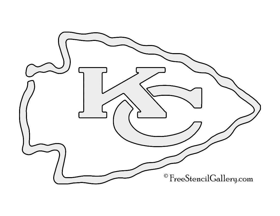 Nfl Kansas City Chiefs Stencil Nfl Kansas City Chiefs Kansas City Chiefs Gifts Kansas City Chiefs