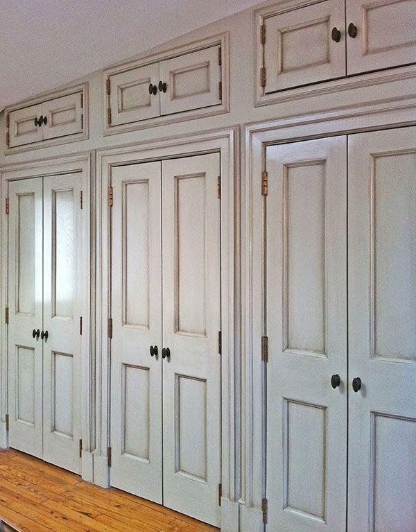 Glazed Cabinet Doors and Molding by Heather Jozak Studios   Interior Design by Robert Jenny Design & Glazed Cabinet Doors and Molding by Heather Jozak Studios ... pezcame.com
