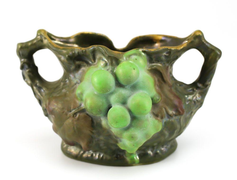 Imperial Amphora Turn Teplitz Austrian Art Nouveau Hand Painted Porcelain Vase
