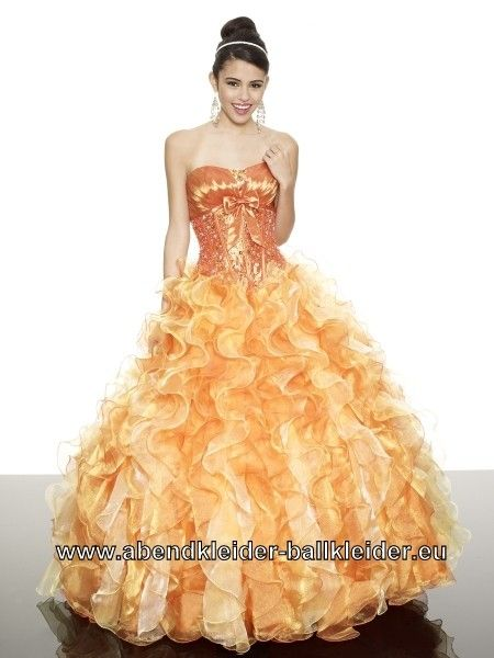 Farbiges Brautkleid Abendkleid Ballkleid in Orange | Ballkleider ...