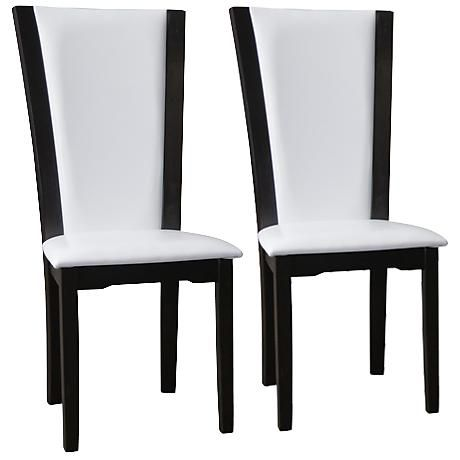 Rinko White Faux Leather Parson Dining Chair Set Of 2 With Images