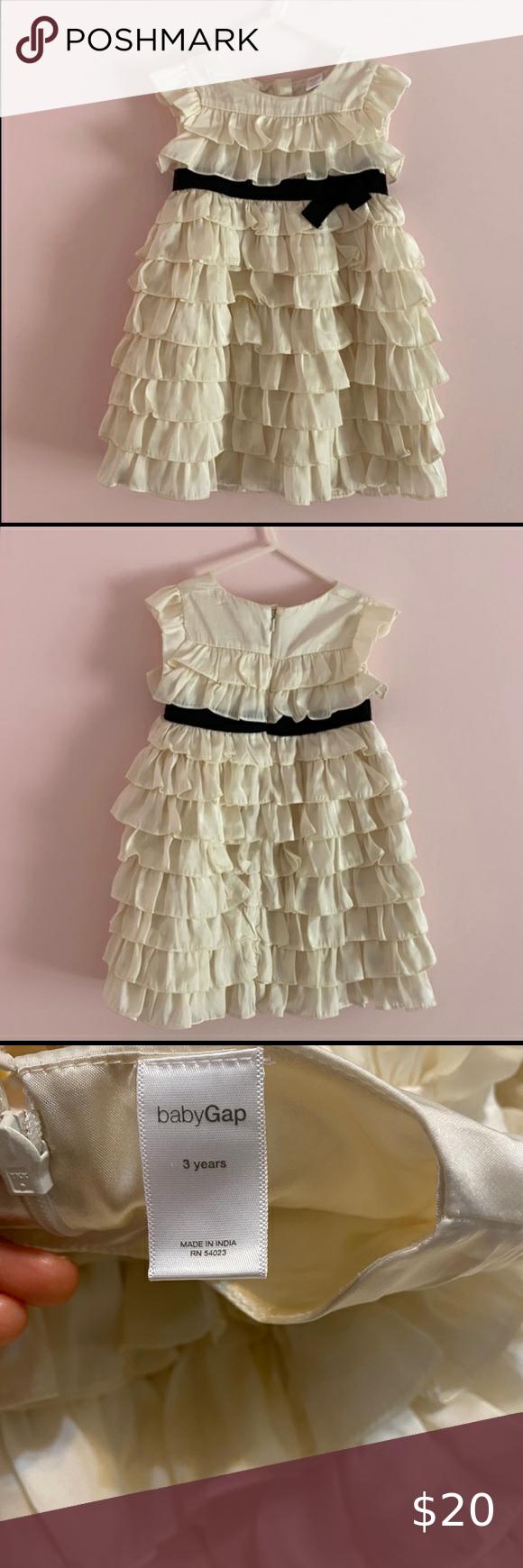 Babygap Ivory Ruffled Dress Black Ribbon Trim 3t Blush Pink Lace Dress Girls Velvet Dress Girls Sequin Dress [ 1740 x 580 Pixel ]