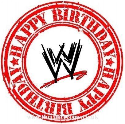 Wwe Logo Happy Birthday Edible Icing Cake Topper Decoration Boys