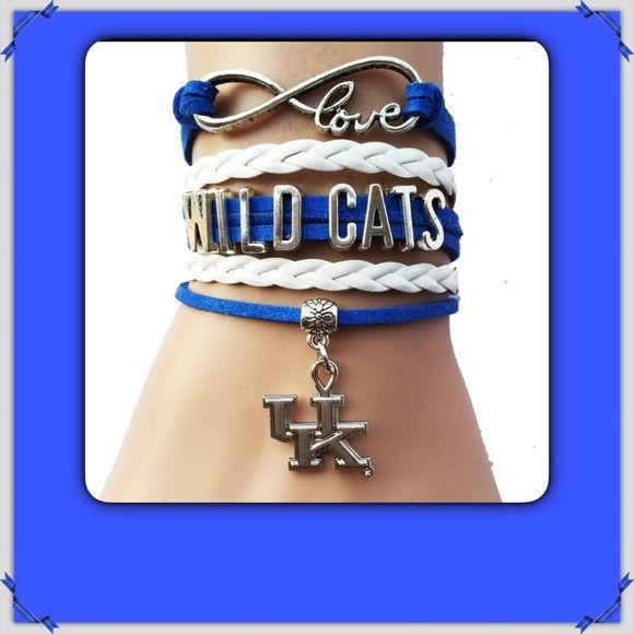 KENTUCKY WILDCATS Bracelet NEW 3 AVAILABLE New in package. Support the Wildcats while wearing this fashionable bracelet. 7 inch with 2 inch extender. GO CATS!!! Listing is for 1 bracelet.... Letters are adjustable on bracelet to move closer together Jewelry Bracelets