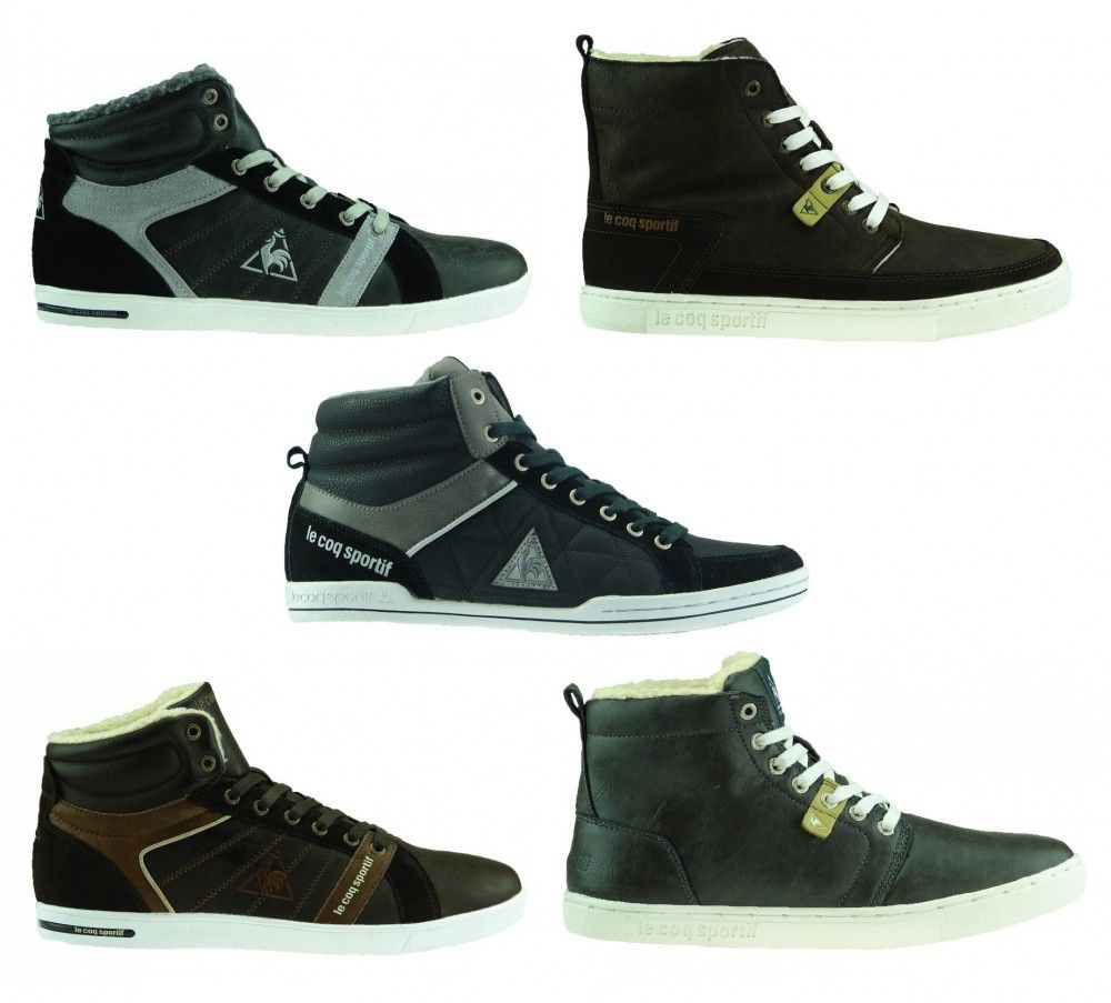 hot sale online 511cc a7337 NEU LE COQ SPORTIF Sneaker Boots gefüttert Innenfell Schuhe ...