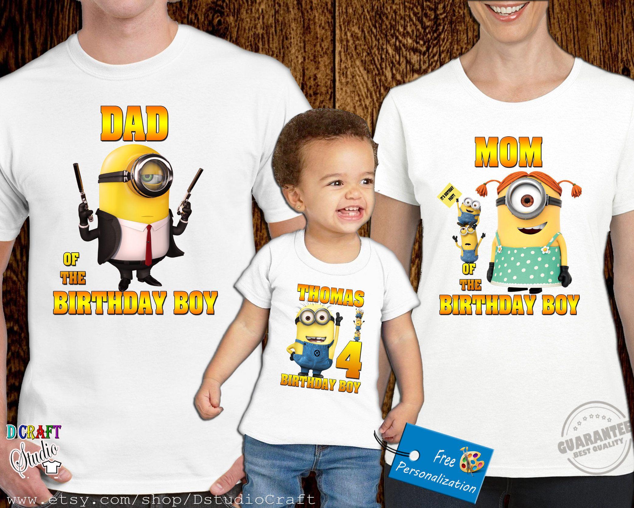 4d54e5e48 Minion Family Birthday shirt Minion birthday Boy t shirt   ziua lui Alex
