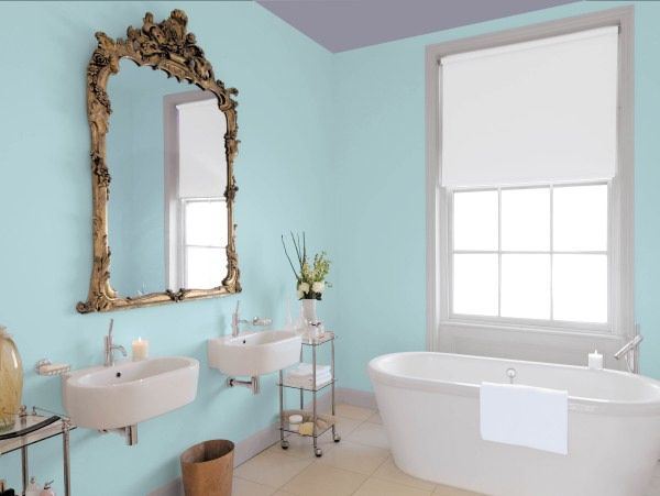 Blue ceilings benjamin moore aura bath spa style at for Seafoam blue paint color