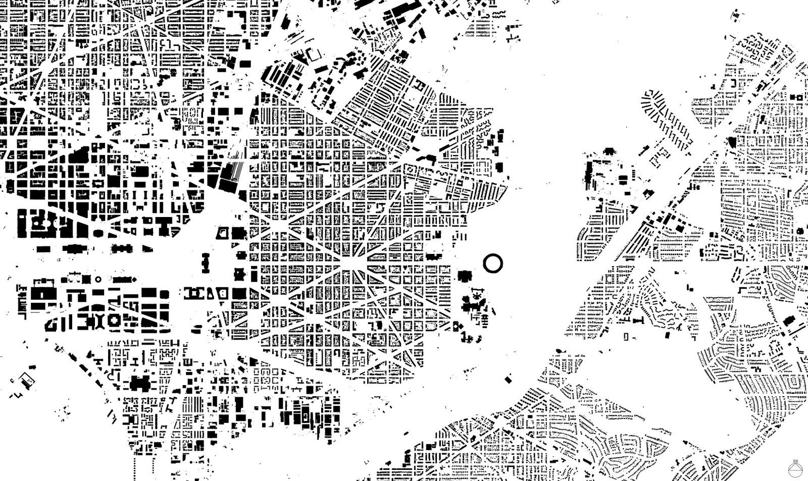 The creative path figure ground washington dc design pinterest urban design plan urban for Who designed the basic plan for washington dc