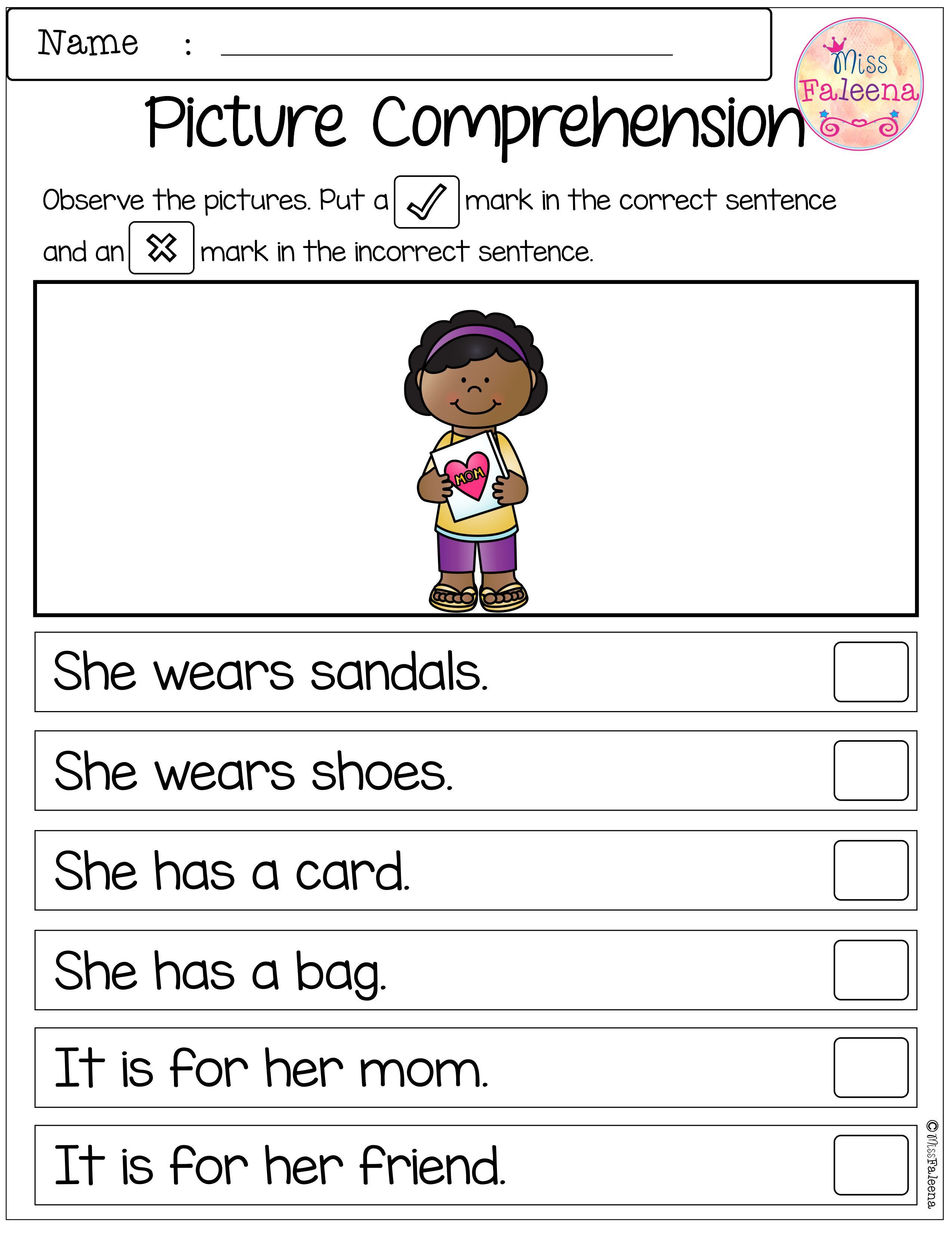 May Picture Comprehension Cards and Worksheets | Teaching Treasures ...