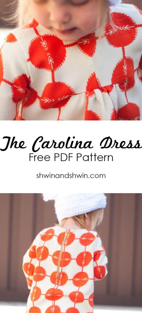 20 Must-Sew FREE Girl\'s Dress Patterns | Sew Perfect | Pinterest