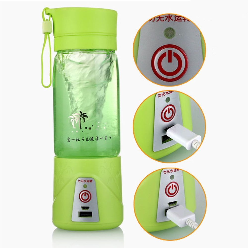 380ml Portable Juicer Cup Usb Rechargeable Battery Juice Blen Blender Electric Fruit Personal With Travel