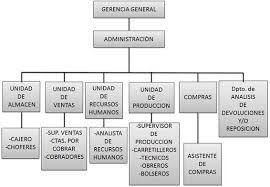Organigrama De Una Empresa De Produccion De Lacteos Buscar
