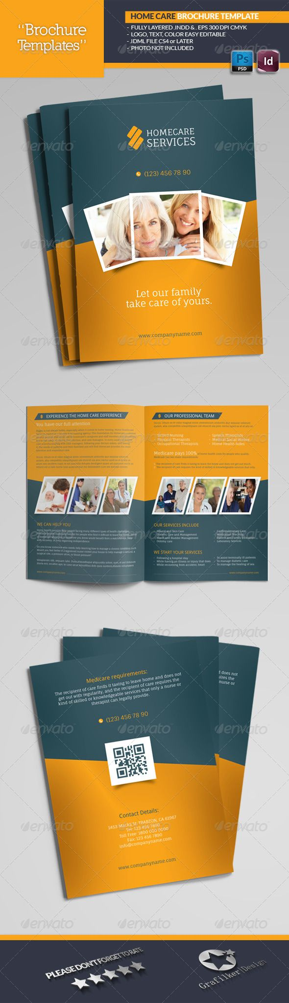 Home Care Brochure Templates Brochure Template Brochures And - Home care brochure template